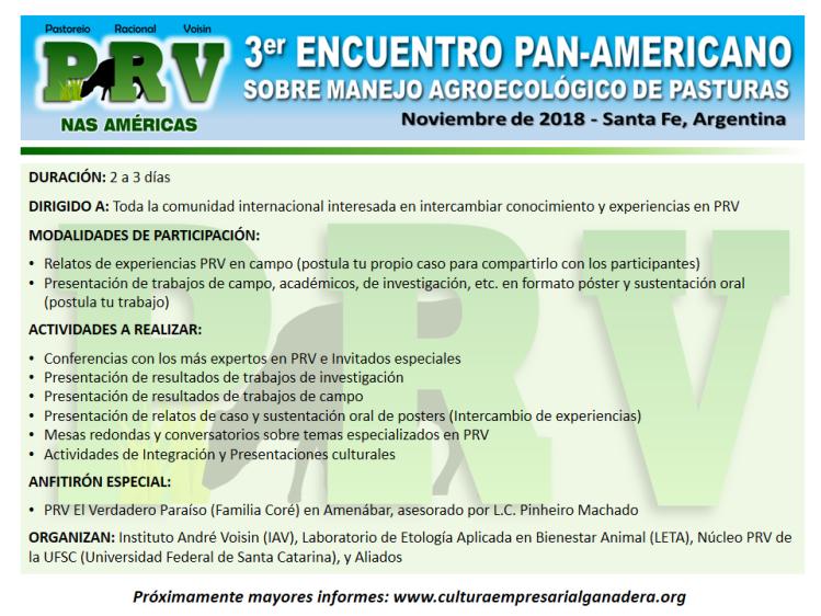 Encuentro PRV Argentina 2018 (info básica)